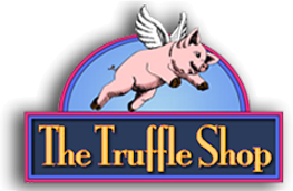 The Truffle Shop logo. Gourmet chocolate truffles and desserts